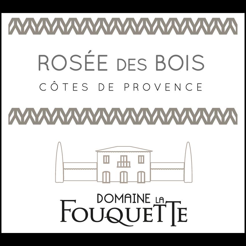 Domaine de la Fouquette | Etiquette Vin Bio - Côtes de Provence Rosé - Rosée des bois